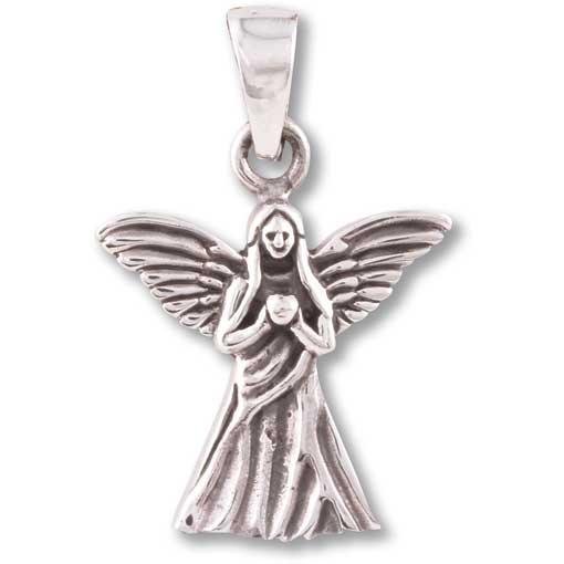 E09 Guardian Angel Sterling Silver Pendant