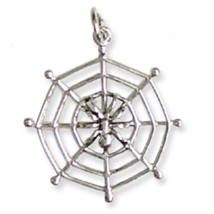 SP16 Spider Sterling Silver Pendant