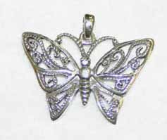 SP11 Butterfly Sterling Silver Pendant
