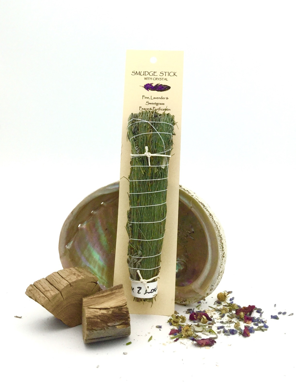 Crystal Magic SMUDGE STICK- Pine & Sweetgrass