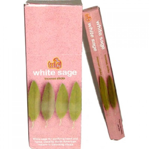 White Sage Tulsi Incense 6 x 20g
